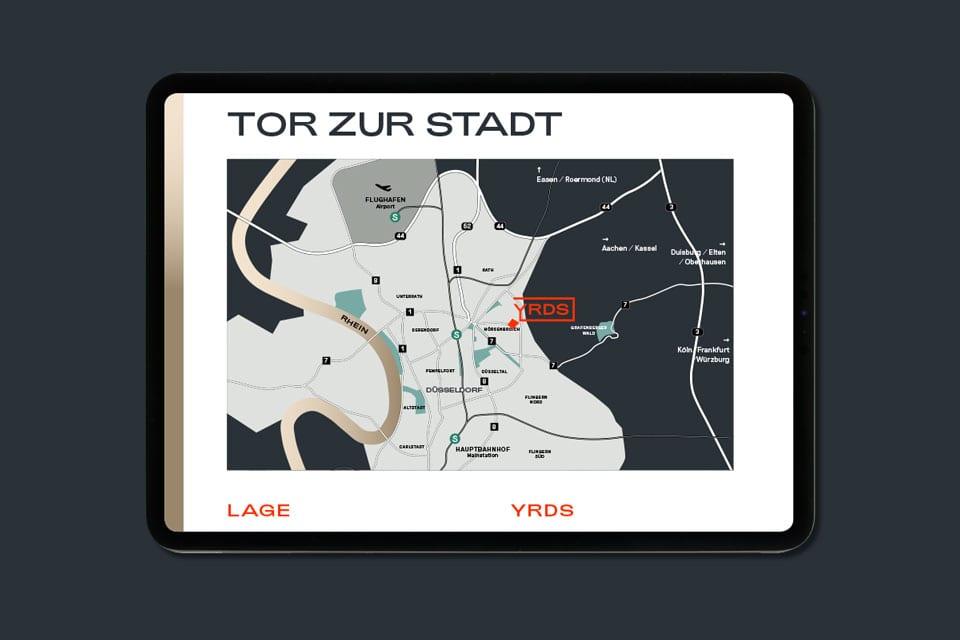 Markenentwicklung für ein Smart-Office-Building – YRDS Design Lageplan