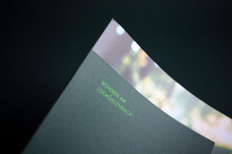 Markenauftritt Grüngut Broschüre Cover Details