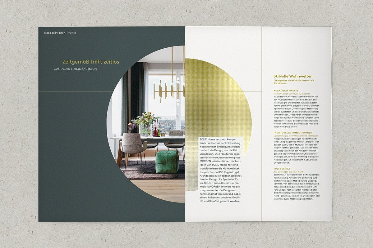 activ consult real estate Immobilienmarketing Broschüre für SOLID Home