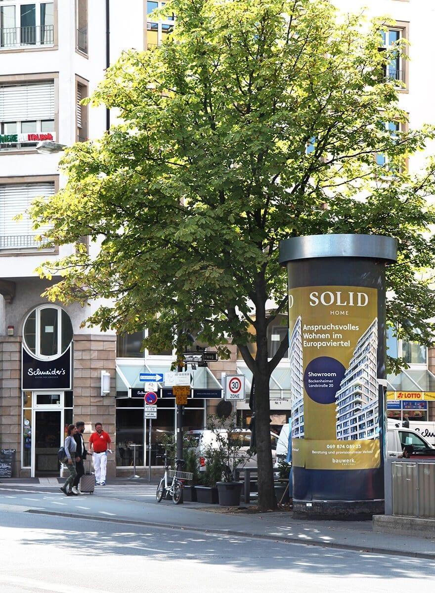Out of Home Plakatserie für SOLID Home – ein Wohnprojekt im Euopaviertel –Concept by acre