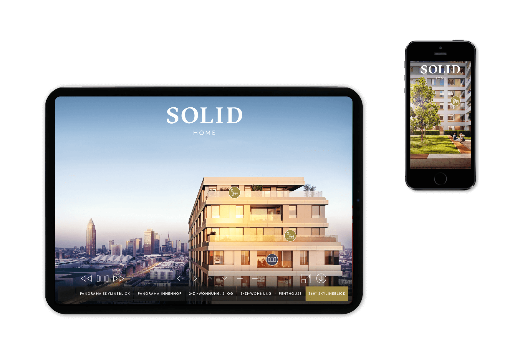 SOLID Home Panorama Tour – app konzipiert by acre