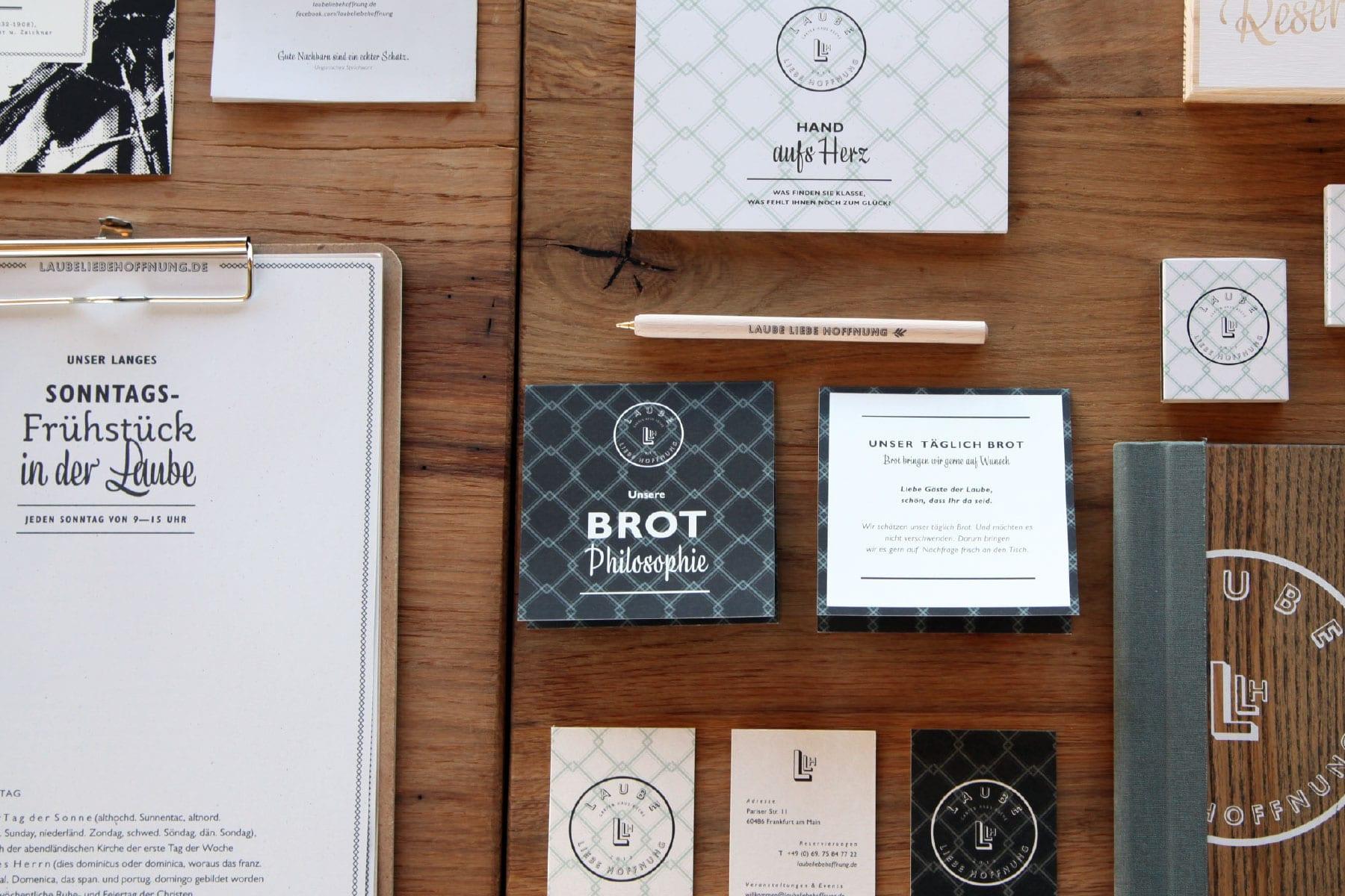 Corporate Design für die Laube Liebe Hoffnung