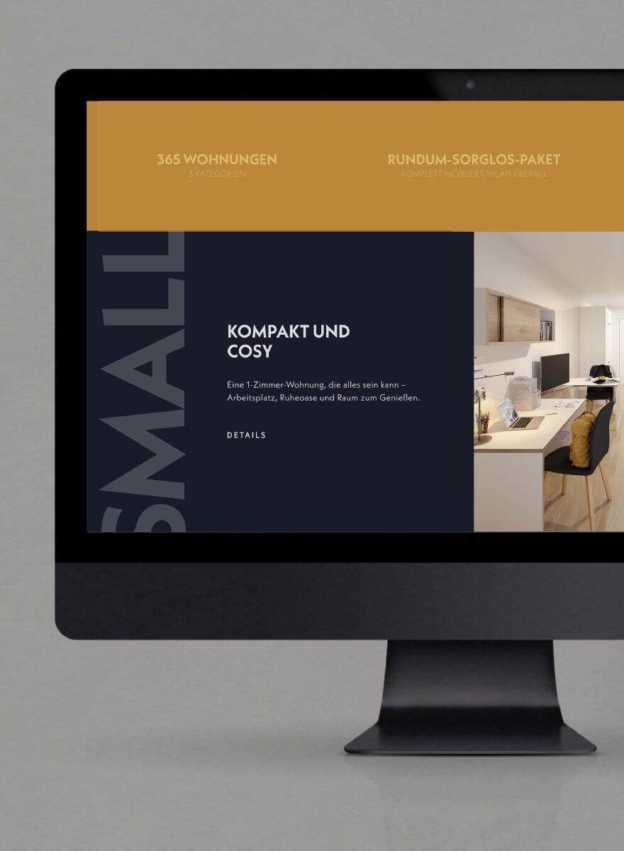 behome - Markenentwicklung Farbkonzept Website desktop