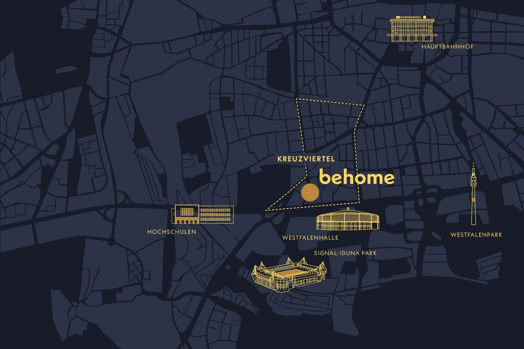 behome - Markenentwicklung Karte Dortmund