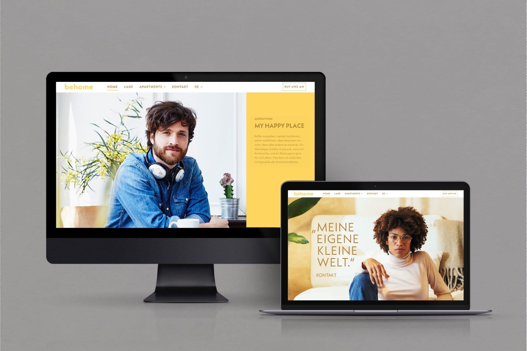 behome - Markenentwicklung responsive Website