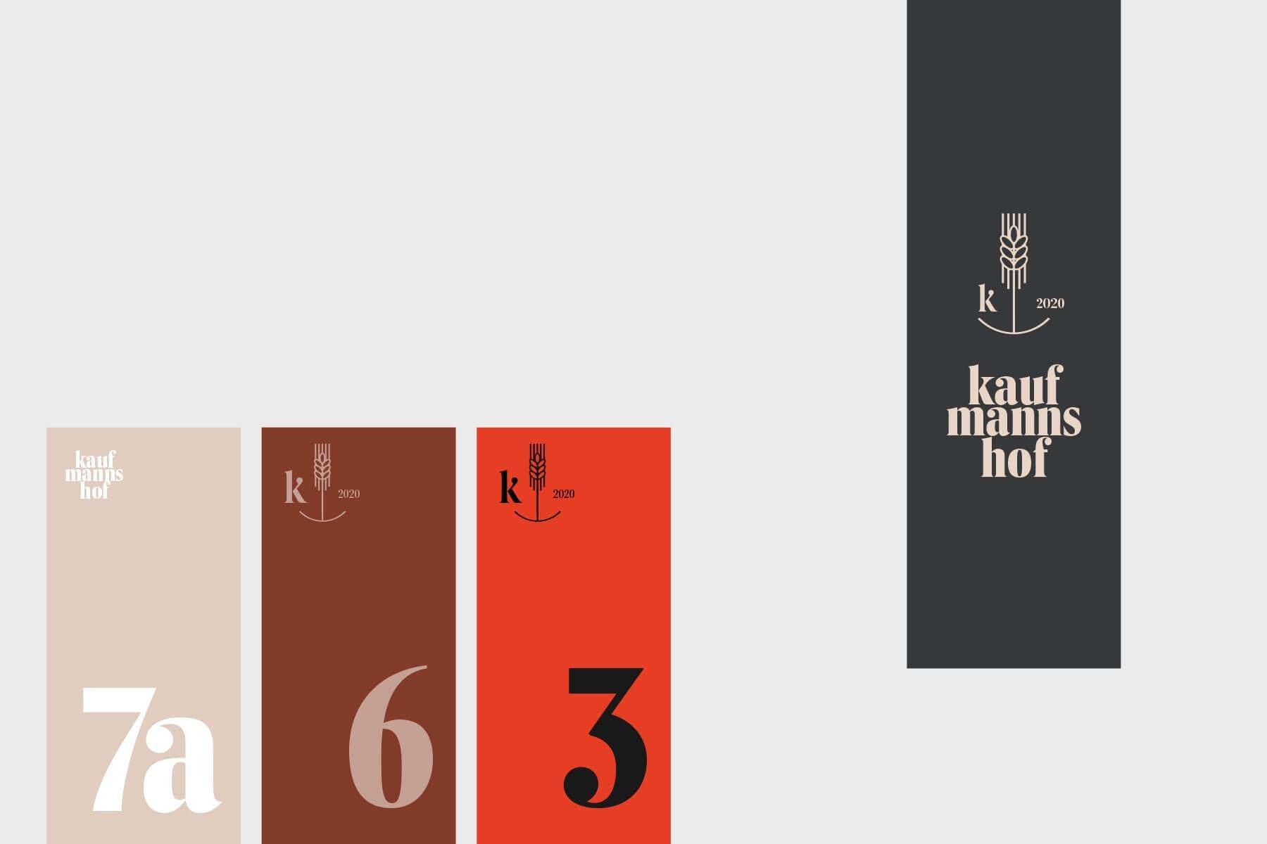 Markenentwicklung Anwendungsbeispiele Signage Marke Kaufmannshof