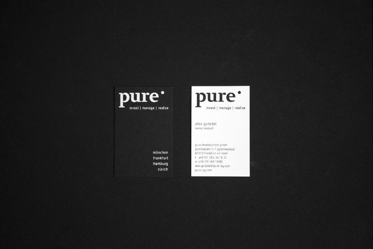 Visitenkarten pure AG