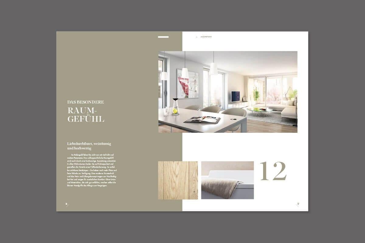Branding Kampagne Wohnimmobilien Hafengold acre