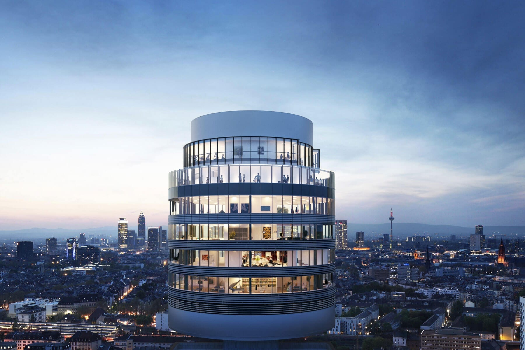 Markenauftritt Henninger Turm Visualisierung