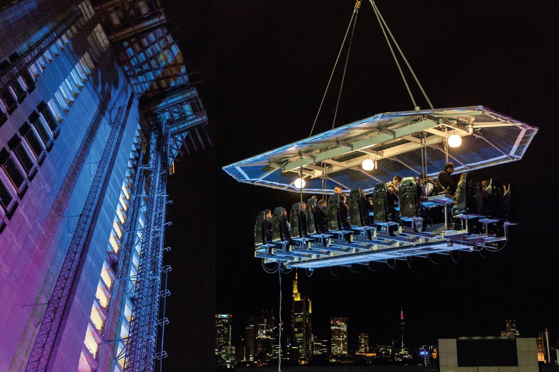 Henninger Turm Event dinner in the sky