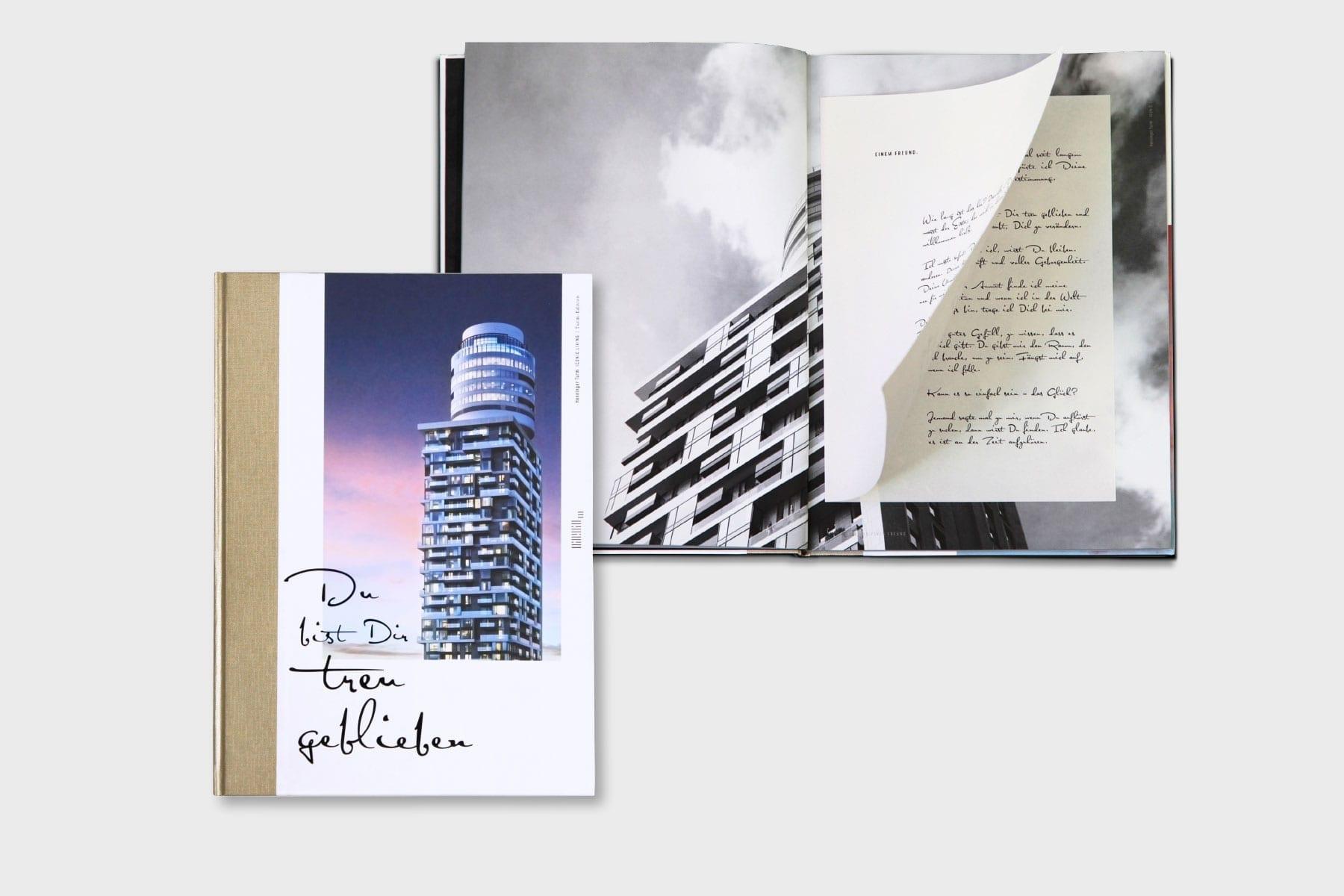 Markenauftritt Wohnturm Henninger Turm Marketing Buch