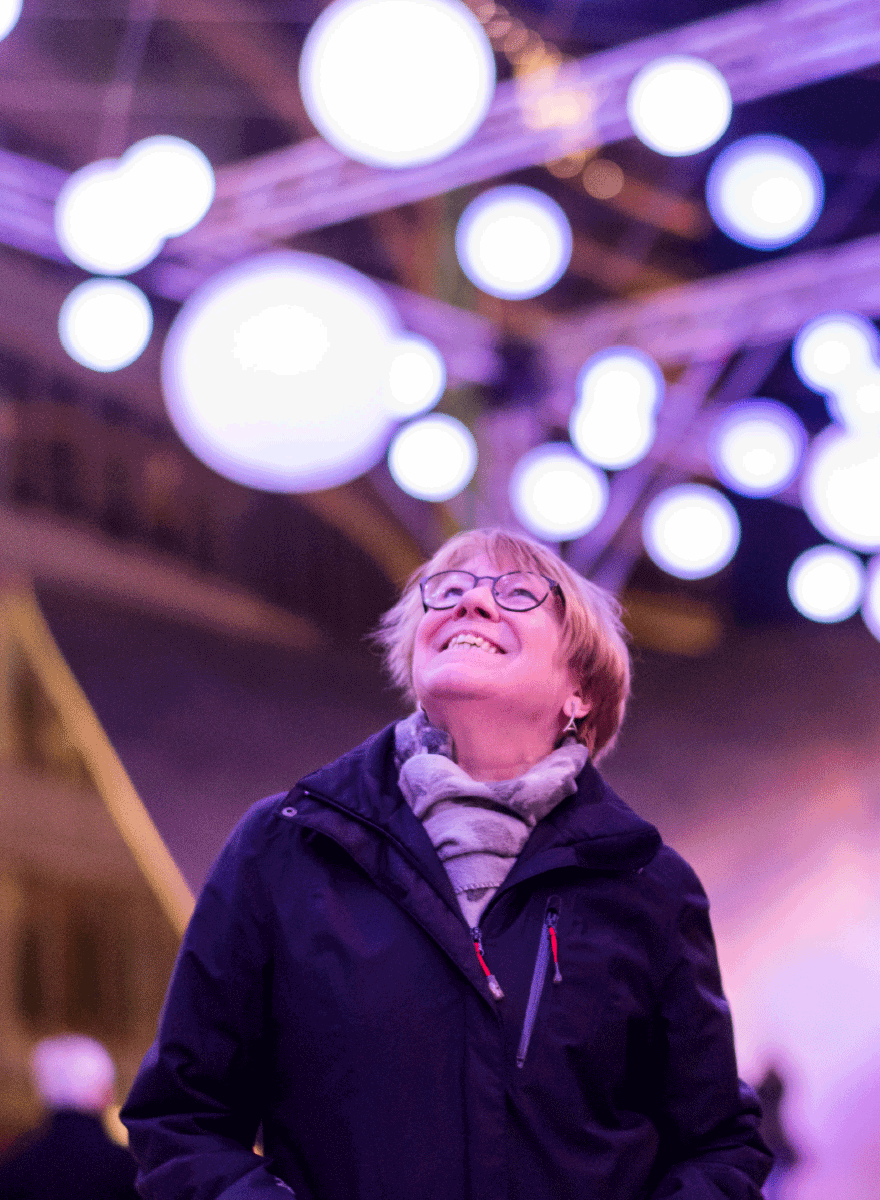 Lichtinstallation für die Luminale - People