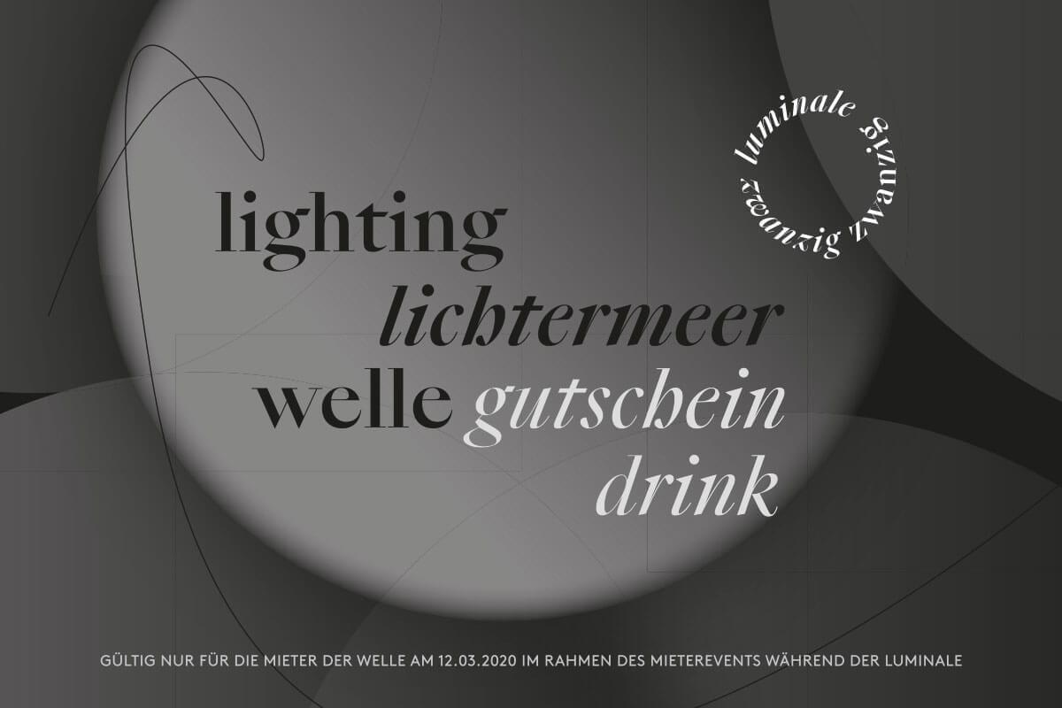 Lichtinstallation für die Luminale - Gutschein Drink