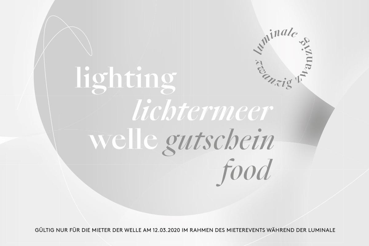 Lichtinstallation für die Luminale - Gutschein Food