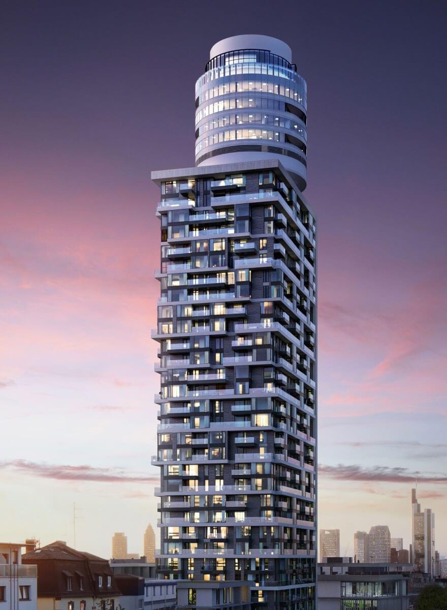 Markenauftritt Henninger Turm Rendering