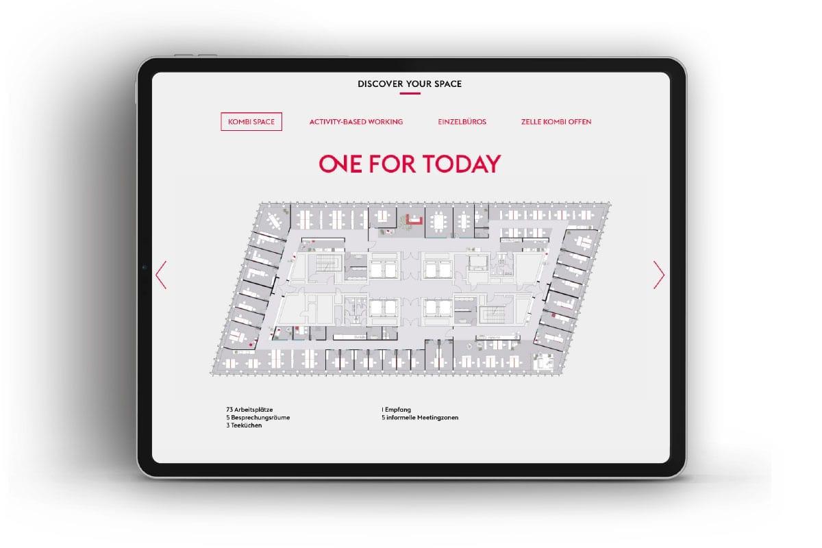 Branding-Kampagne ONE by CA Immo Broschüre Website Grundriss