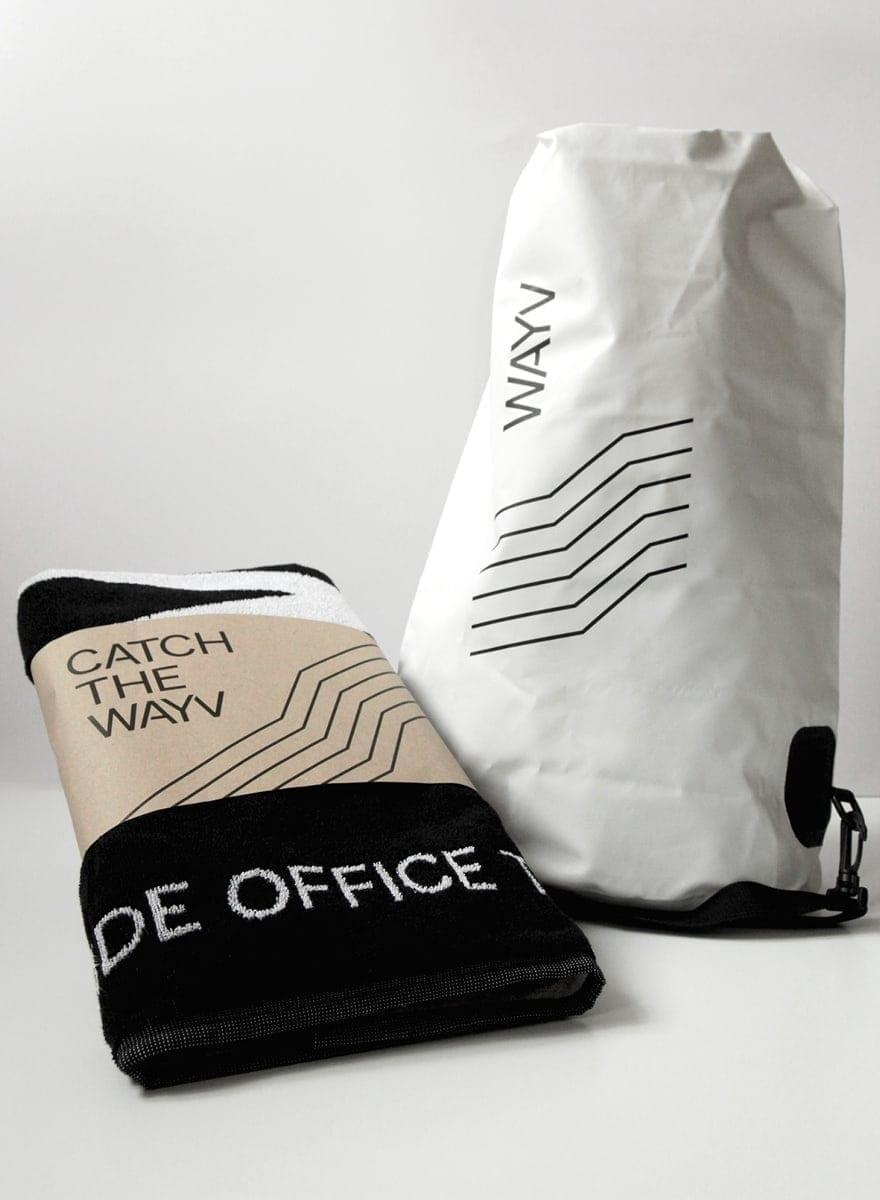 Towel and bag