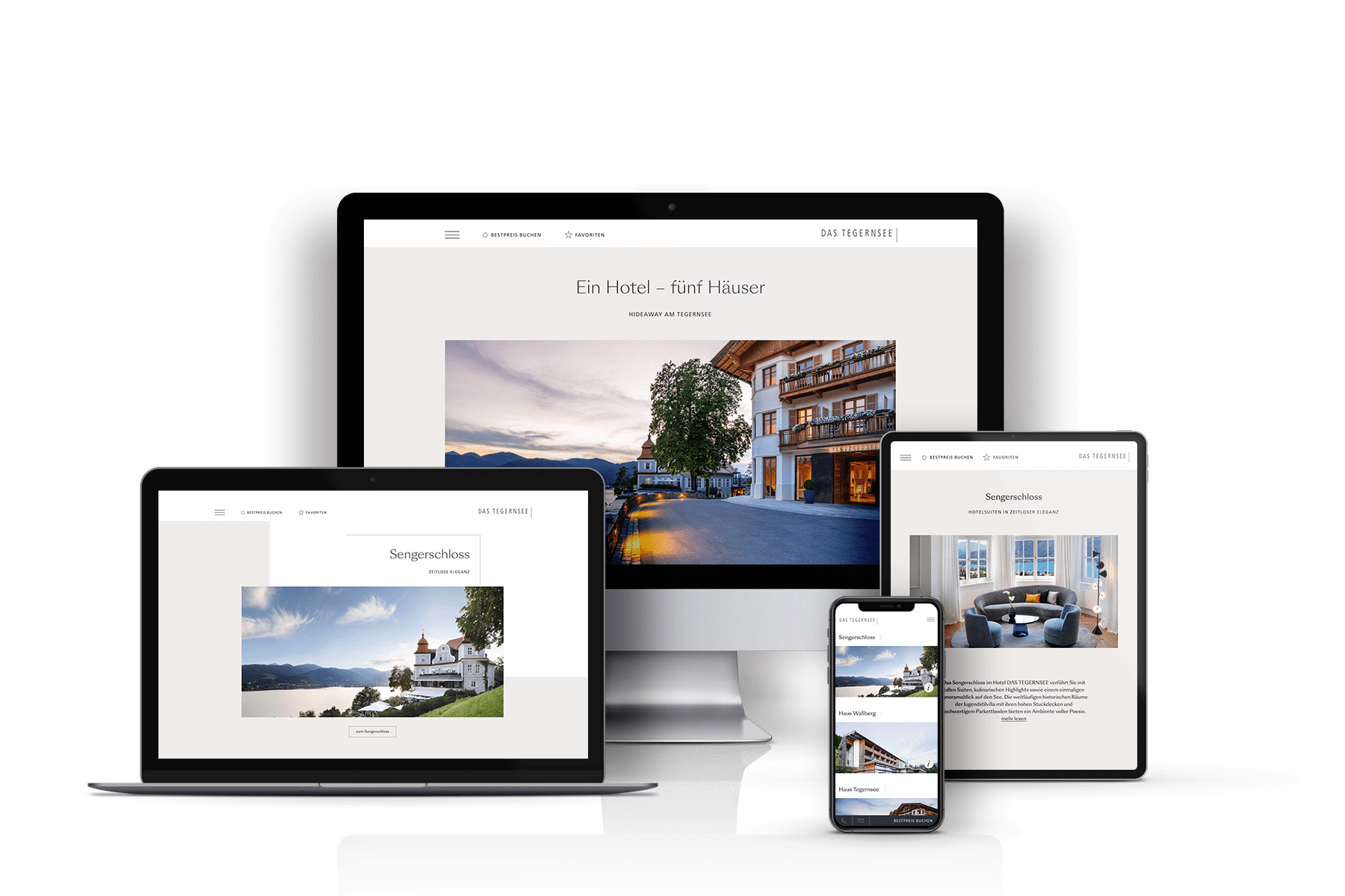 DAS TEGERNSEE - Website on all devices