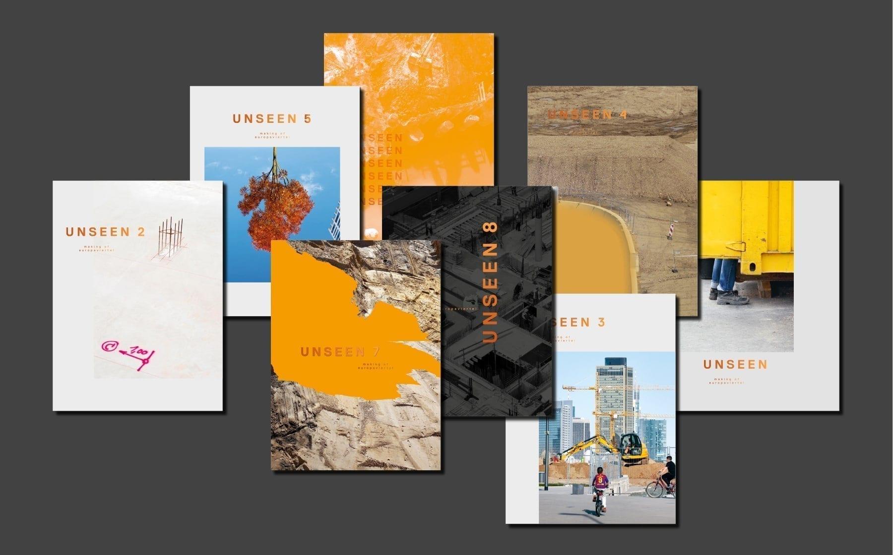 Buchcover der Serie: UNSEEN - making of europaviertel Eine fotografische Dokumentation