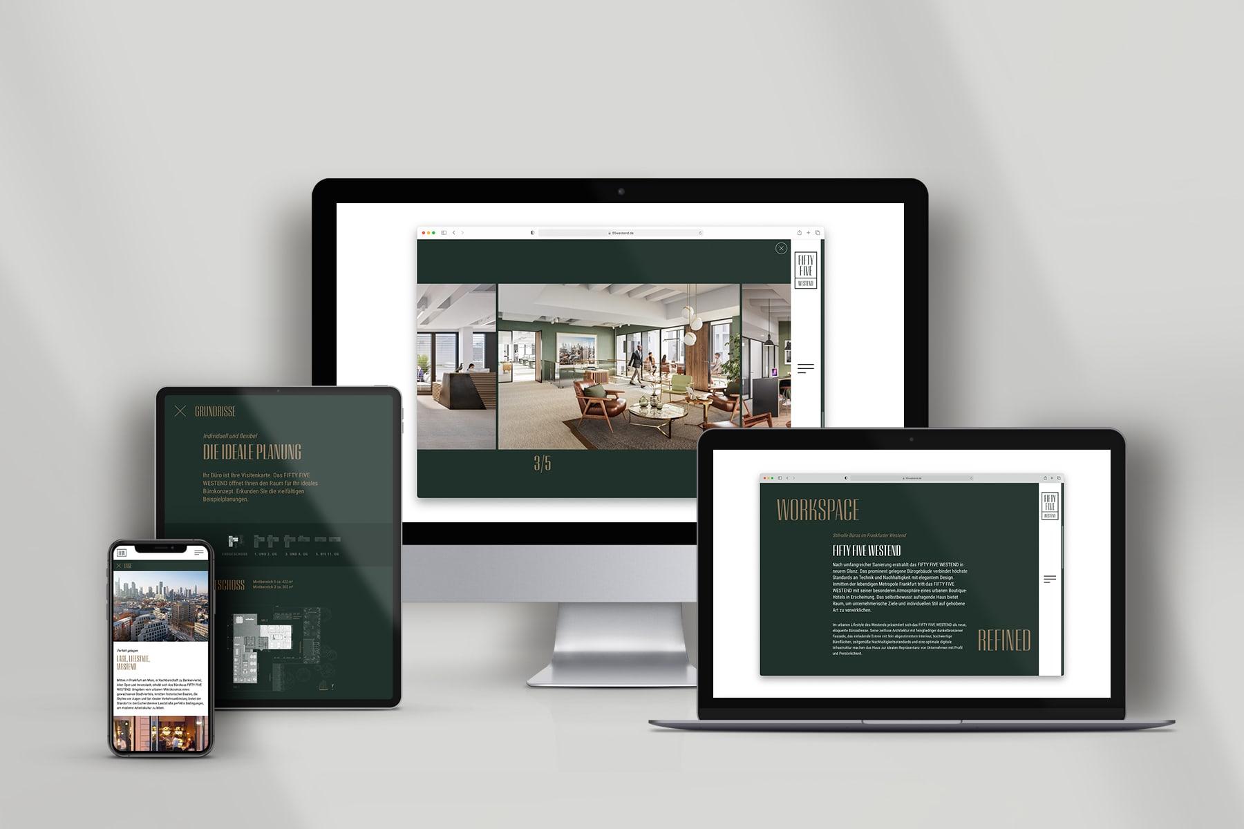 Fifty Five Westend Website auf allen Devices
